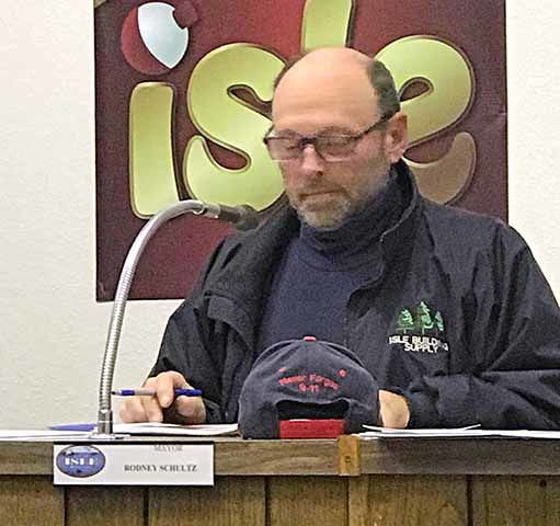 Isle City Council November meeting - Mayor Schultz