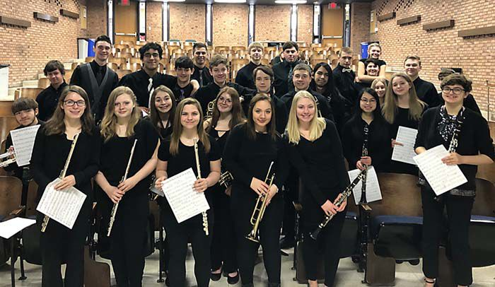 The McGregor High School band students
