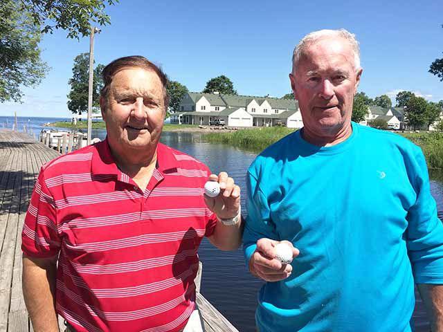 Dick LeBrun (left) and Bill McClellan (right)
