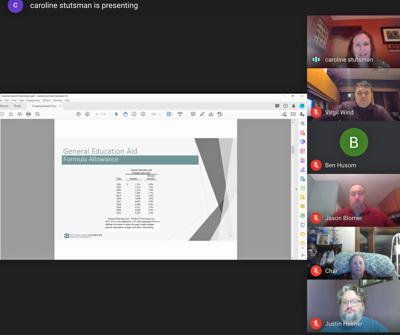 audit presentation at the Onamia School Board virtual meeting
