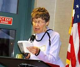 """Local author Solvei """"Lewann"""" Sotnak read from her newest book, """"From Aitkin to Madagascar ... and Back"""""""