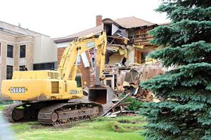 Demolition of the historical 1915 Aitkin Jail building started the week of June 25.
