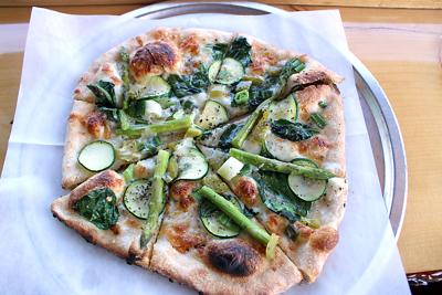 The 'Evergreen' pizza