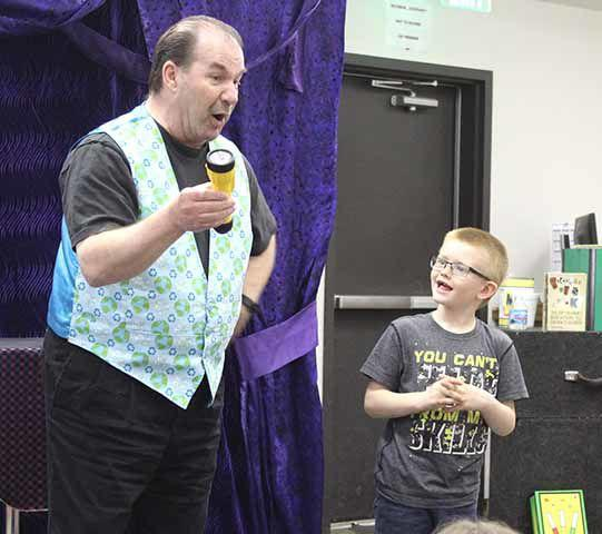 Magic show at ML Library