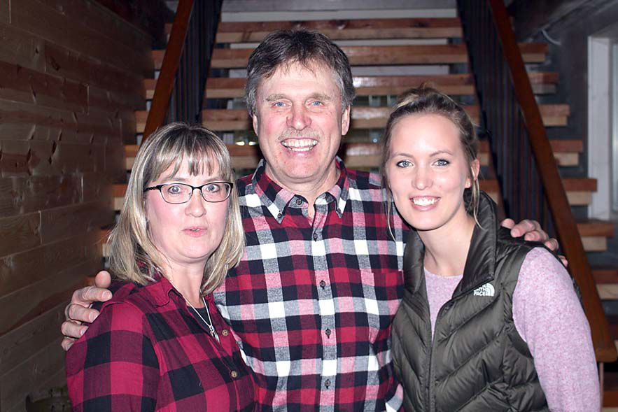Bob Kangas is pictured with wife, Cheryl Kangas, and daughter, Jana Reichstadt.