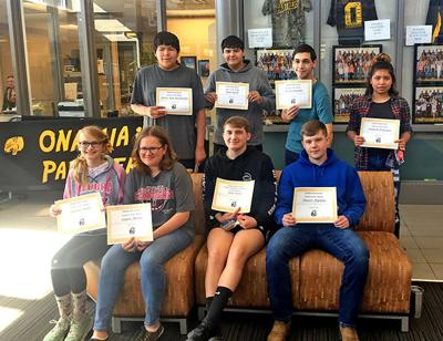 Onamia High School Students of the Month - April