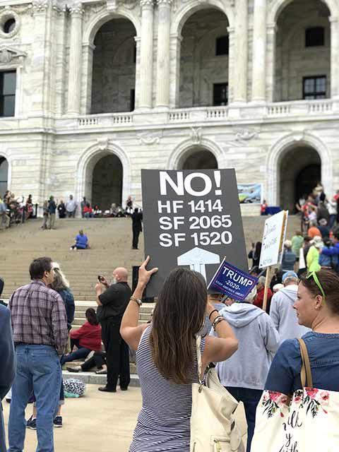 Protestors of the Comprehensive Sexual Education (CSE) bill