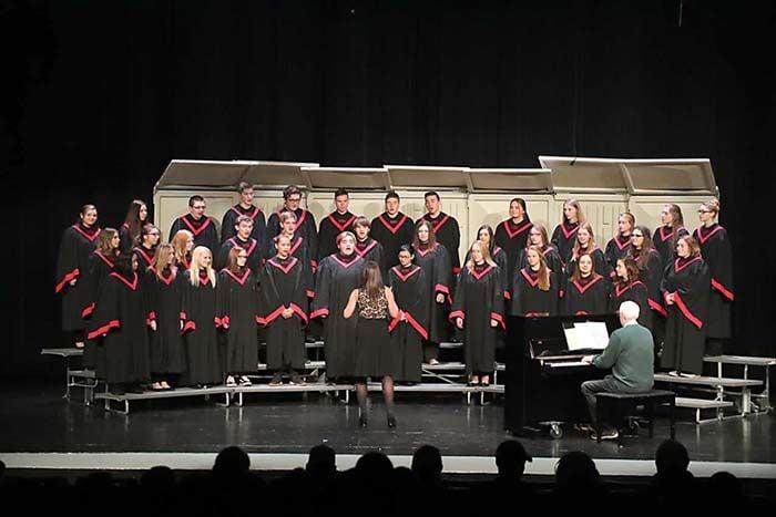 The McGregor High School choir