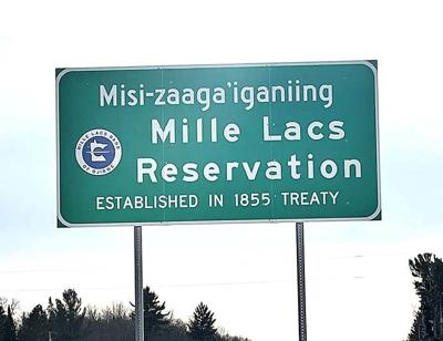 Mille Lacs Band of Ojibwe boundary sign