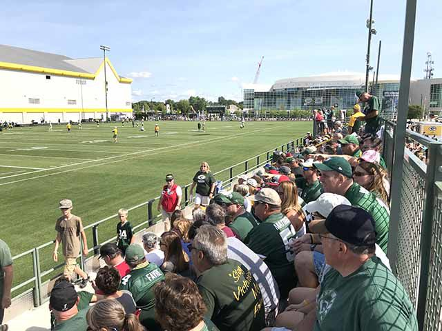 Packers Training camp in Green Bay
