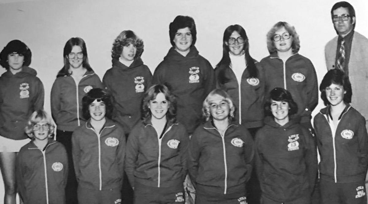 Aitkin Gobbler's District Championship tennis team in 1980.
