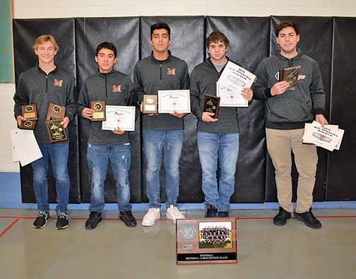 McGregor varsity football players were presented awards at the banquet