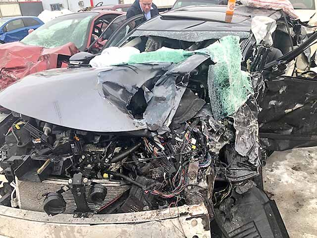 Long car crash