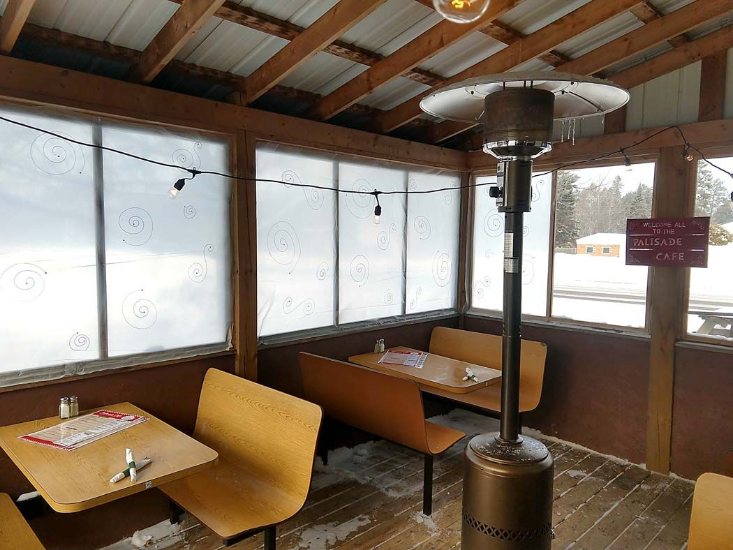 The outdoor dining area at Palisade Cafe 2.0