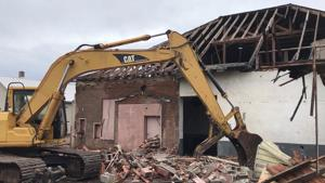 Demolition of the historic Aitkin Creamery