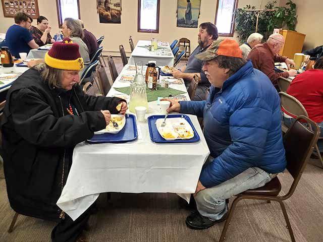 Shepherd of the Lake Church Thanksgiving meal