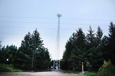 Verizon tower on property of Red Door Resort.