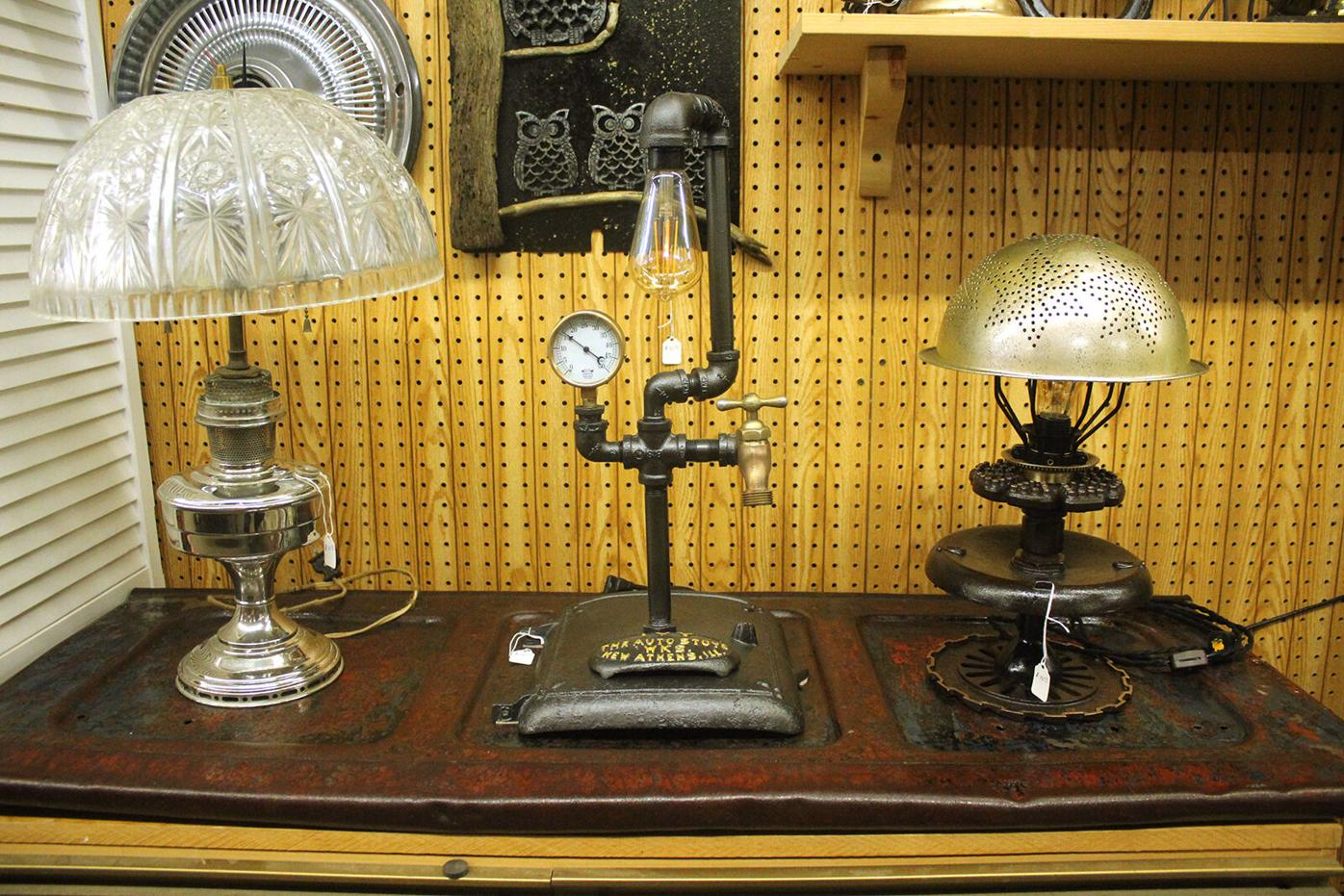 A few of Klebs' lamp designs