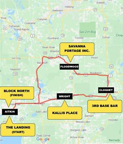 The Dawson Strong Ride route.