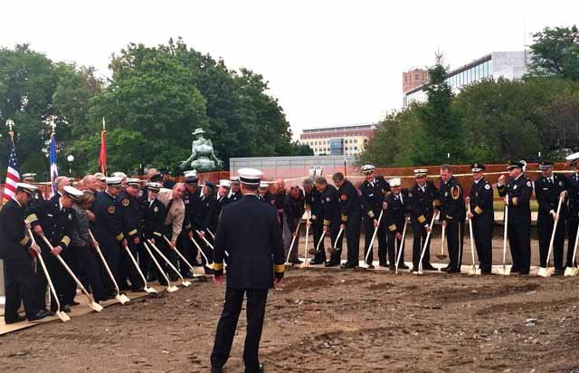 Firefighters Marching At Capitol >> Families Of Firefighters Who Died In The Line Of Duty Break Ground
