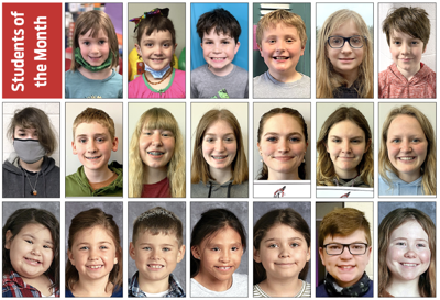 Students of the month - 4-28-2021
