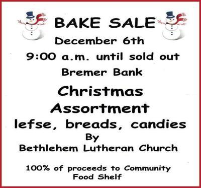Bethlehem Lutheran Church Bake Sale
