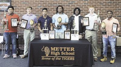 Tiger football players honored