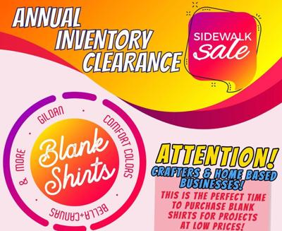 Metter Graphics Clearance Sidewalk Sale Today and Tomorrow!