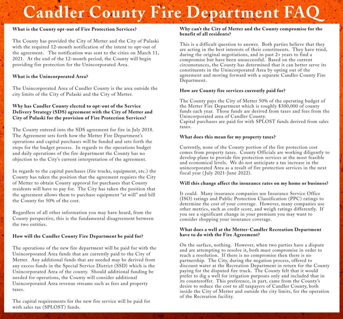 Why a county fire department? Administrator explains commission's decision