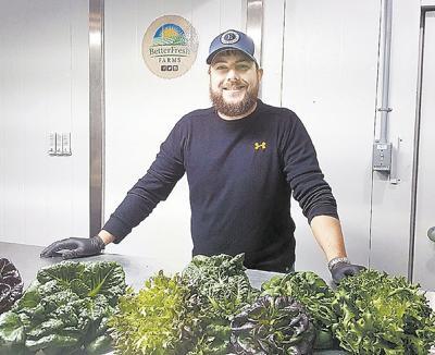 First hydroponic farm harvest