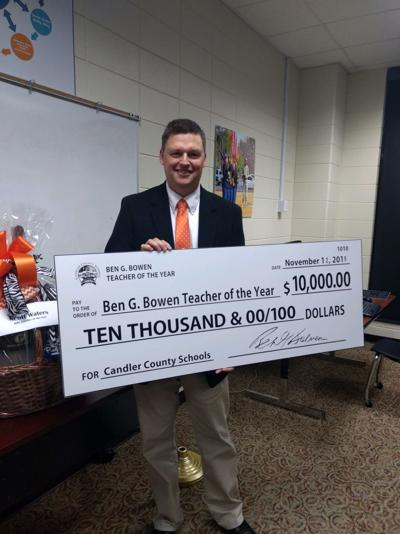 Scott Waters, Teacher of the Year