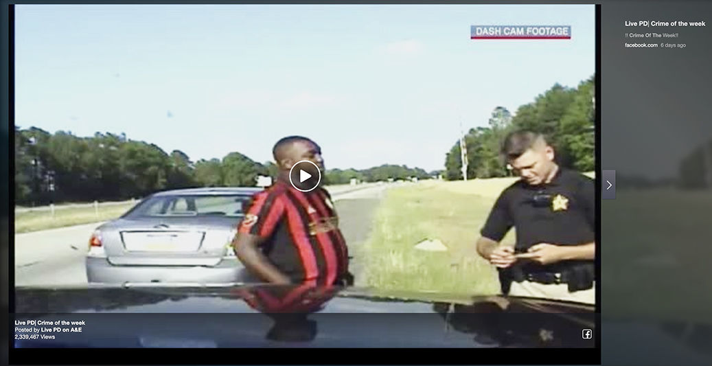Local high speed chase makes aired on Live PD