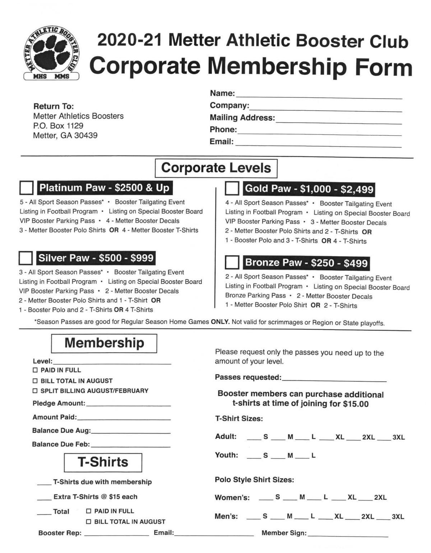Booster membership drive begins
