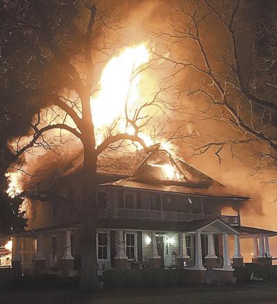 Flames engulf historic Pulaski home