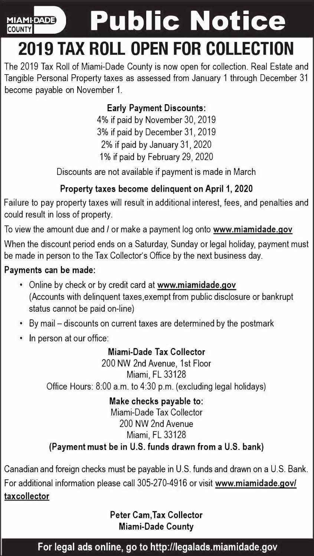 2019 Tax Roll
