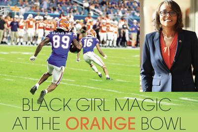 Orange Bowl game and Carla Williams