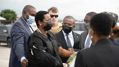 first lady back in haiti
