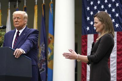 Donald Trump and Judge Amy Coney Barrett