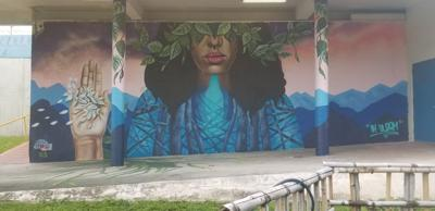 A mural painting