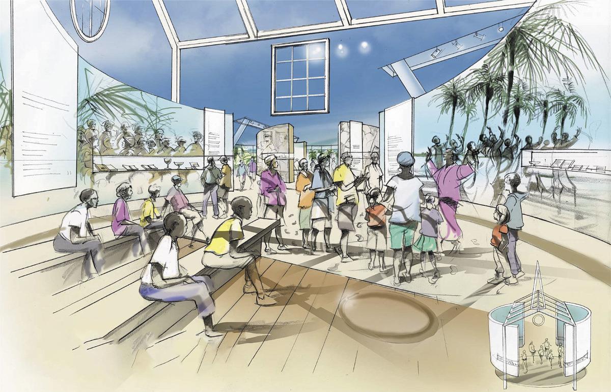 Historic Virginia Key Park Beach Museum rendering