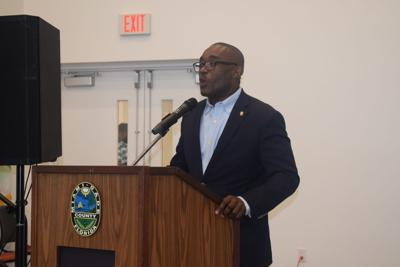 Miami-Dade County Commissioner Jean Monestime speaks