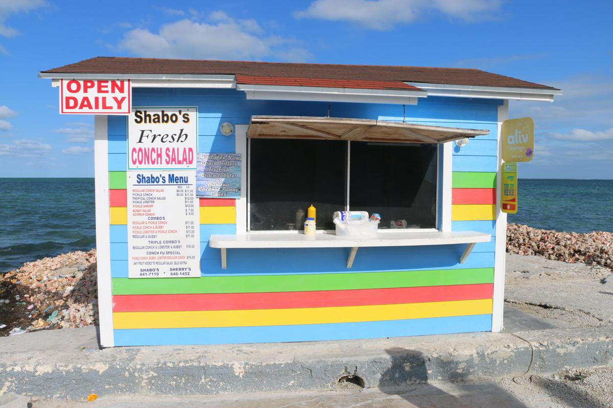 Local conch salad stand