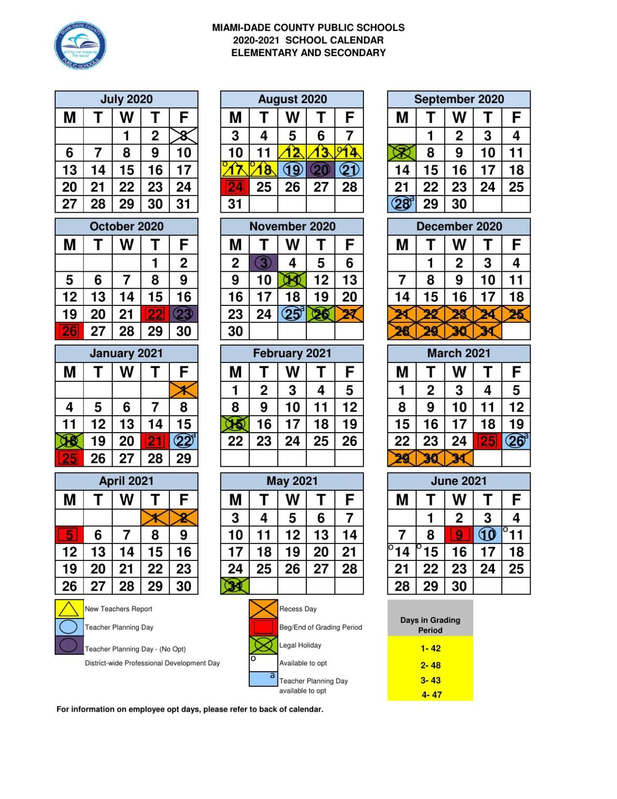 Miami Dade School Calendar Miami Dade County School Board approves 2020 21 school calendars