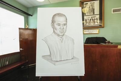 Rendering of Judge Johnson's sculpture