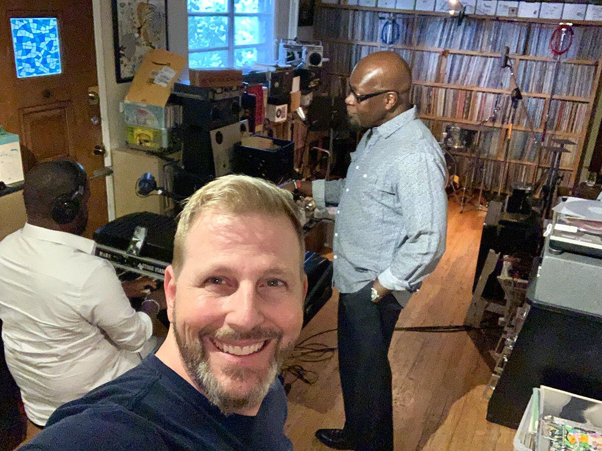 Joe L. Stone (L) and music director Tyrone Hilton (R)
