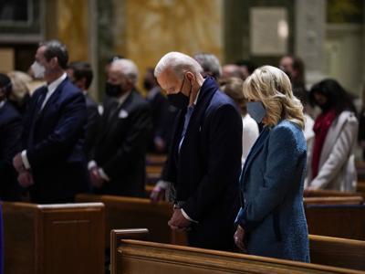 Joe Biden at mass