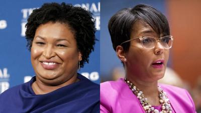 Stacey Abrams and Mayor Keisha Lance Bottoms