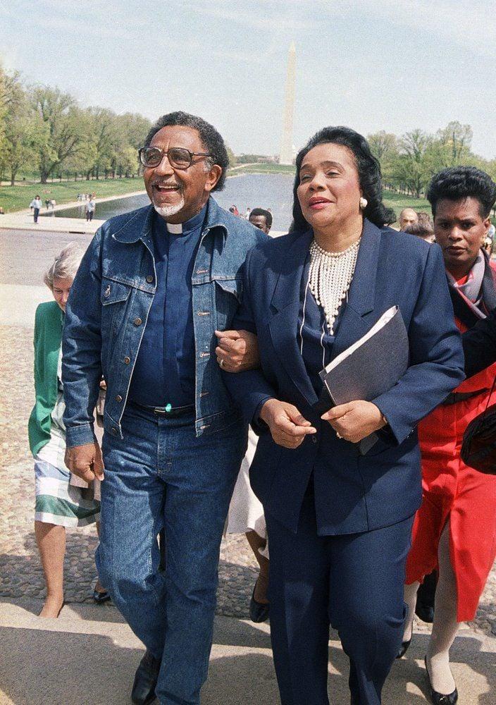 Lowrey and Coretta Scott King