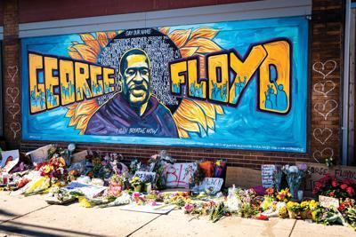 George Floyd mural honoring