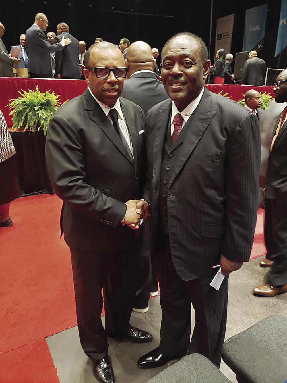 Reverend Carl Johnson and Reverend C.P. Preston Jr.
